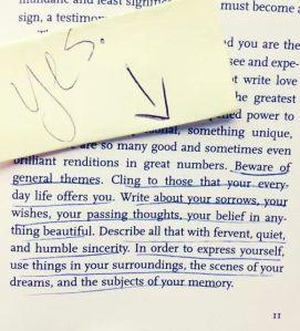 More advice from Rilke