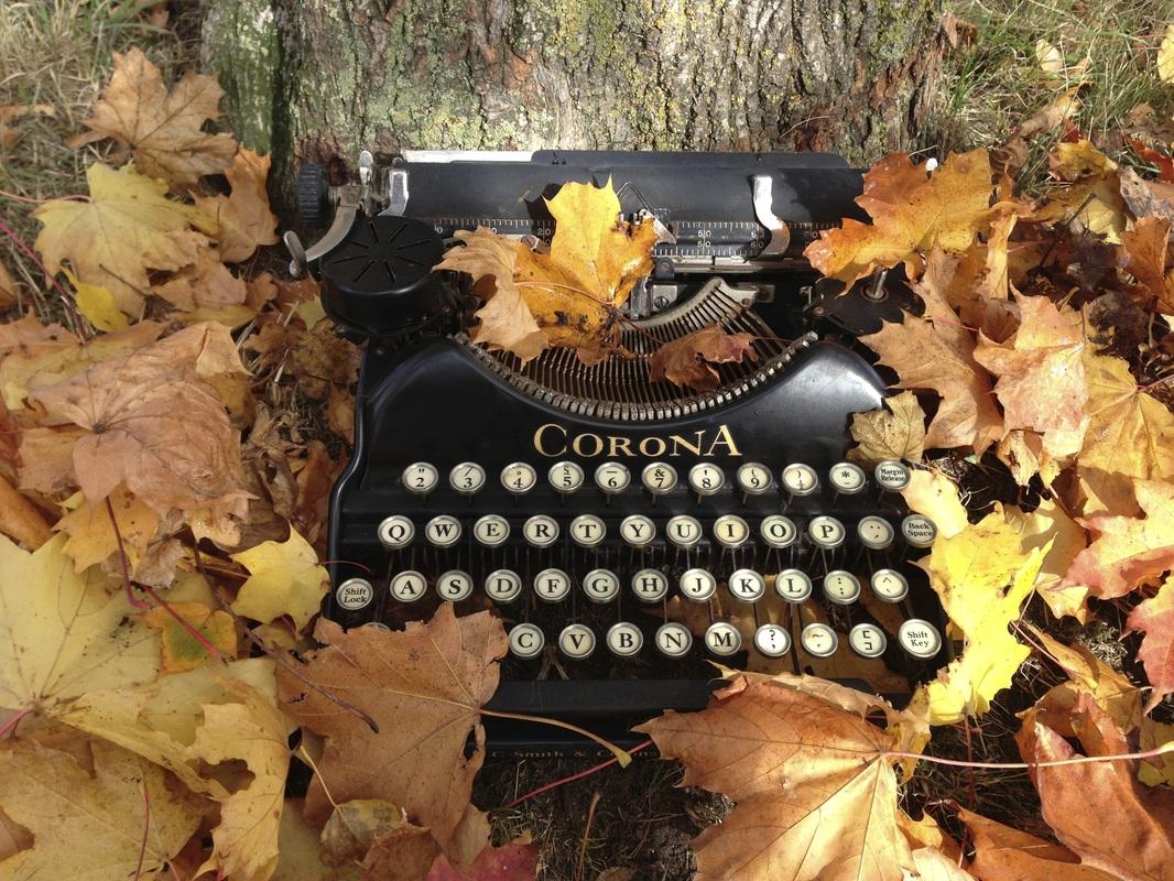 typewriter leaves